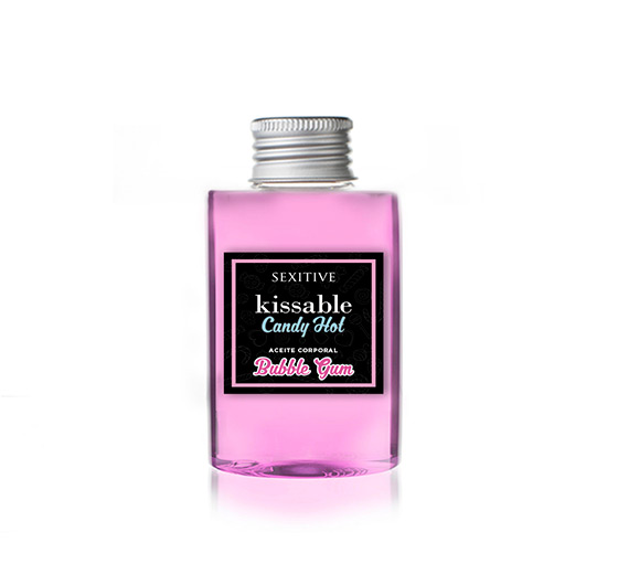 Kissable Candy Hot Bubble Gum DELICIOUS, IRRESISTIBLE, SWEET FLAVORED & SCENTED KISSABLE CANDY Divertidos y dulces aceites besables para invitar a jugar.  125 ml  KISSABLE - BUBBLE GUM